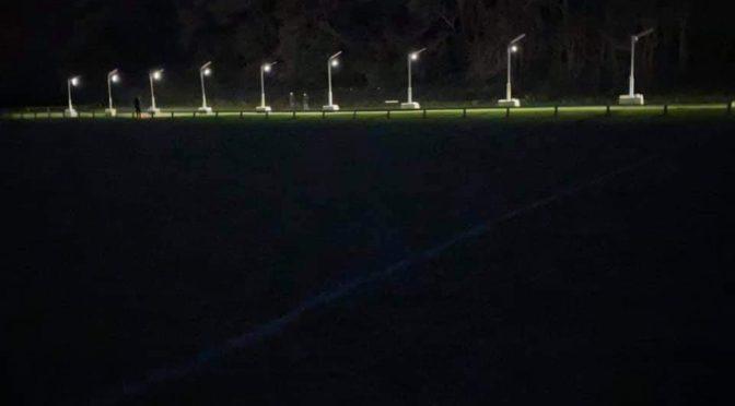 Lights Go Up At Clevedon Track!
