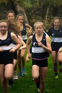 U13 Girls team in action