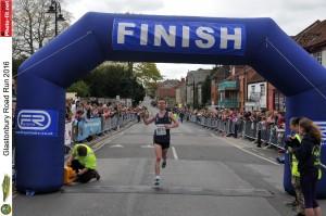 James winning Glastonbury 10k