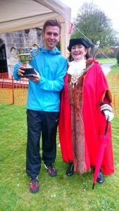 James with Mayor Glastonbury 10k